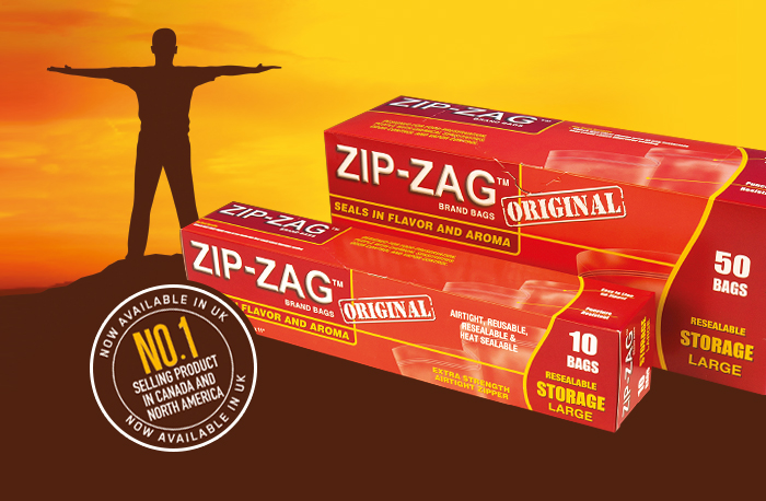 Zip Zag Bags - seals in flavour and aroma